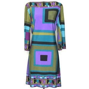 Sandra Darren Geometric Shift Dress A130330